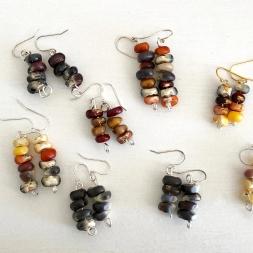 Boucles d'oreilles de maïs décoratifs récupérés