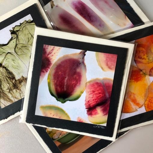 Cartes photo carrées sur papier artisanal