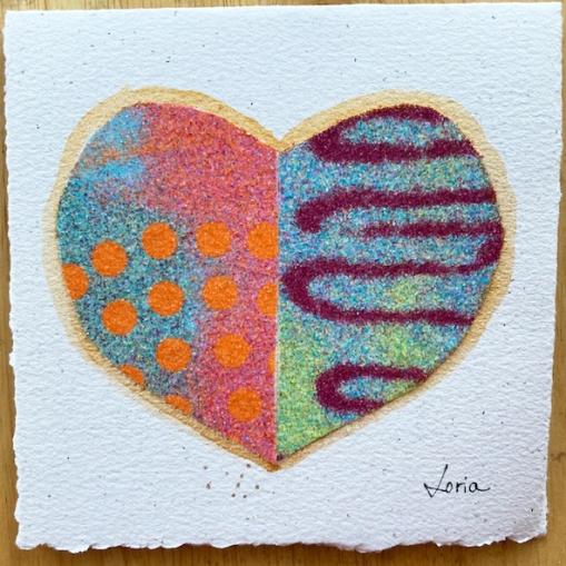 carte souhaits coeur
