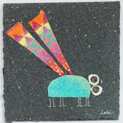carte souhaits la mouche géométrique
