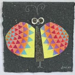 carte souhaits le papillon symétrique
