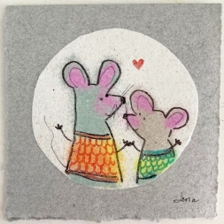 carte souhaits les souris